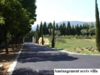 Amenagement de paysages acces villa